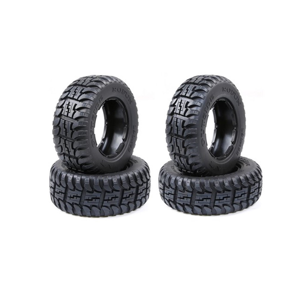 All-terrain tires kit for ROFUN ROVAN HPI KM BAJA 5T 5SC image