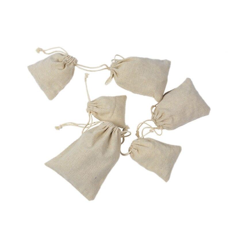 Vogvigo  Reusable Cotton Drawstring Shopping Bag Women Men Travel Shopper Tote Storage Bags