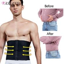 VASLANDA Men Waist Girdle Corsets Lumbar Trainer Body Shaper Fitness Sauna Sweat Belt Shapewear Fat Burning Slimming Underwear