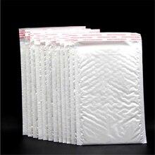 10 шт. 110*150 мм белая жемчужная пленка конверты с воздушно-пузырчатой плёнкой внутри объемные конверты само печать для конверта Пузырьковые почтовые упаковки