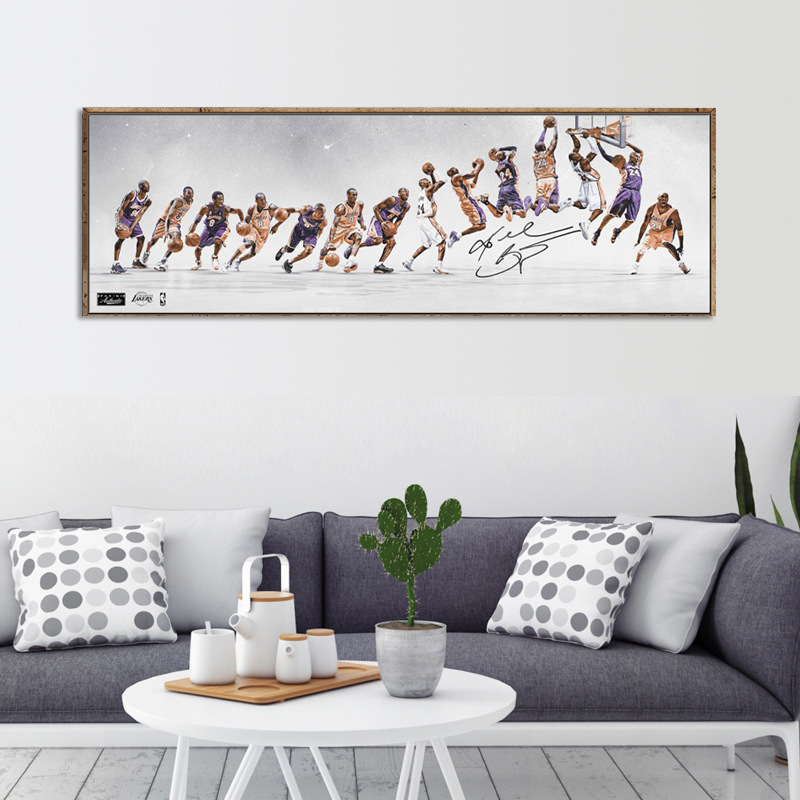 Classic Kobe Bryant Poster Decorative Painting Canvas Wall Art Living Room Hanging Painting Bedroom Oil Painting Basketball Star