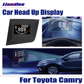 цена на Car OBD HUD Head Up Display For Toyota Camry Accessories 2018 2019 Safe Driving Screen Full Function OBD Projector Windshield