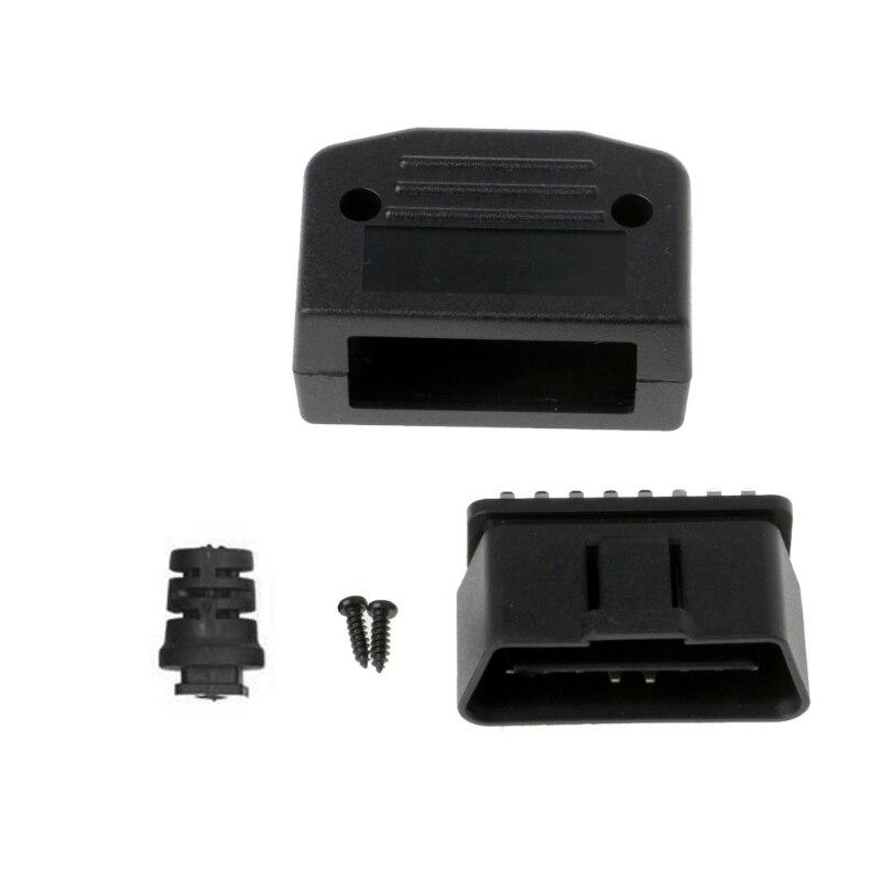 Car Auto OBD2 16 Pin Male Connector Plug Universal Car Diagnostic Tool Adapter