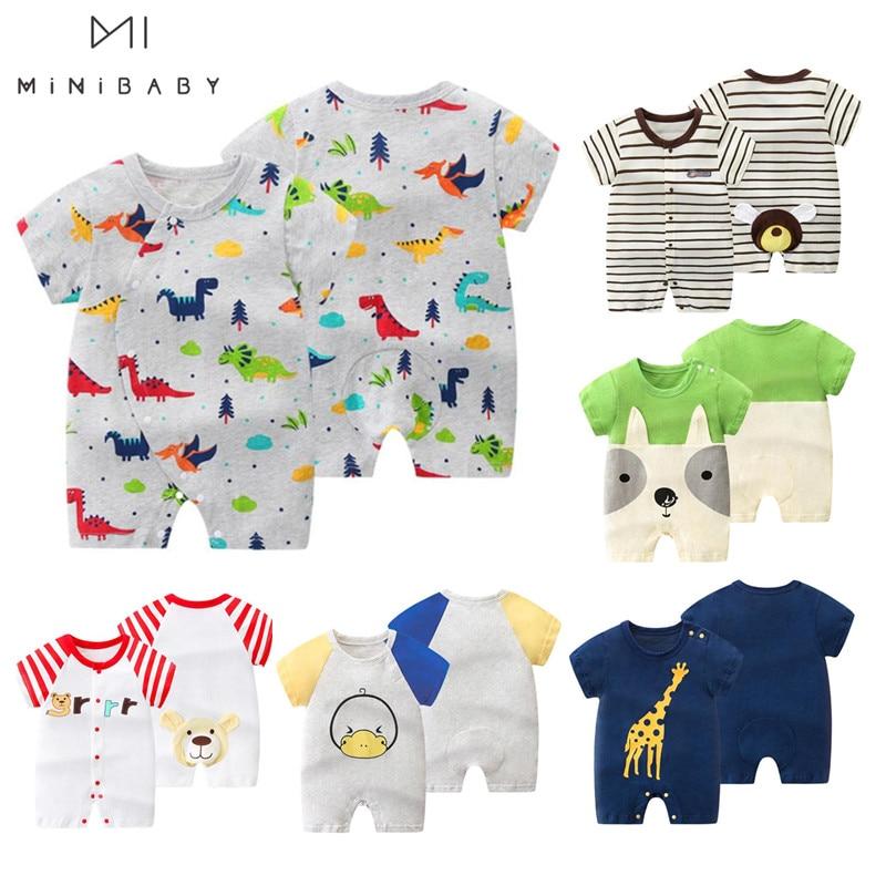 Orangemom 2020 Summer Baby Boy Bodysuits PP Cartoon Short Overalls For Infants Baby Jumpsuit ,  Anime Roupa Menino Vestidos Body