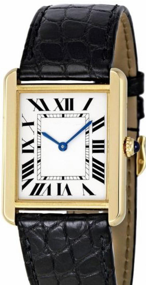 Luxury Brand New Quartz Men Women Gold Silver White dial Black Leather Watch Sapphire Stainless Steel Watch AAA+ - 2