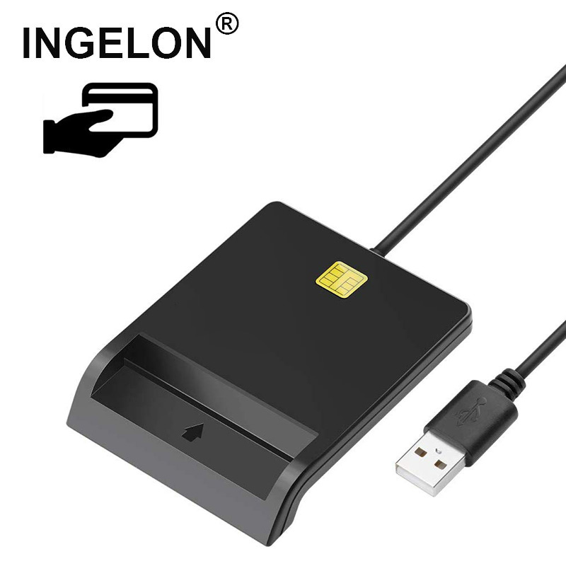 Ingelon Reader Dni Electronico Smart USB Card Reader ATM CAC SIM DNI IC Smart Bank Tax Card Reader2.0 Dropshipping