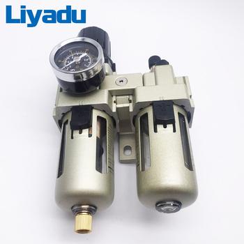 AC3010-02 G1 4 AC3010-03 G3 8 ropy naftowej i separator wody filtry powietrza sprężarki zawór regulacyjny dwa filtry powietrza tanie i dobre opinie liyadu Urządzenie do obróbki źródłem 5-60℃ 0 05-0 85(mpa) 1 5MPa
