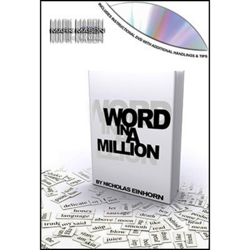 Word In A Million / With Dvd And Gimmick Close-Up Magic Stage Street Bar Comedy Magic Tricks Mentalism Illusions Magician Book