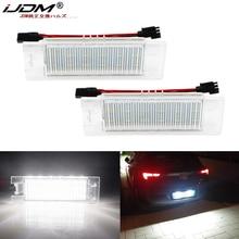 iJDM White License Plate Light Lamps For OPEL VAUXHALL Adam Astra H Astra J Astra K Cascada Corsa C Corsa D Corsa E Insignia A