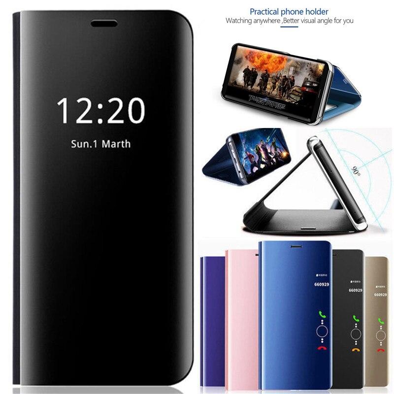 Для Samsung Galaxy S8 S9 роскошный сенсорный зеркальный умный флип-чехол с подставкой Чехол для S8 S9 Plus EU кожаный чехол Note8 Note9 Note10 pro