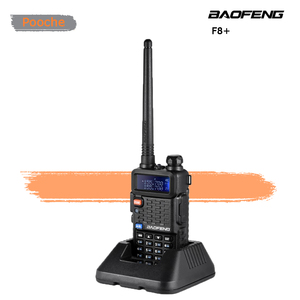 Baofeng портативная рация F8, 5 Вт, два диапазона, беспроводная связь, двусторонняя радиостанция, радиостанция с поддержкой VHF и UHF, радиостанция с...