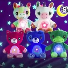 Plush Toy Star Belly Dream Galaxy Projector Light Starry Projection Novelty Lights Star Lamp Bedroom Decor Birthday Kids Gifts