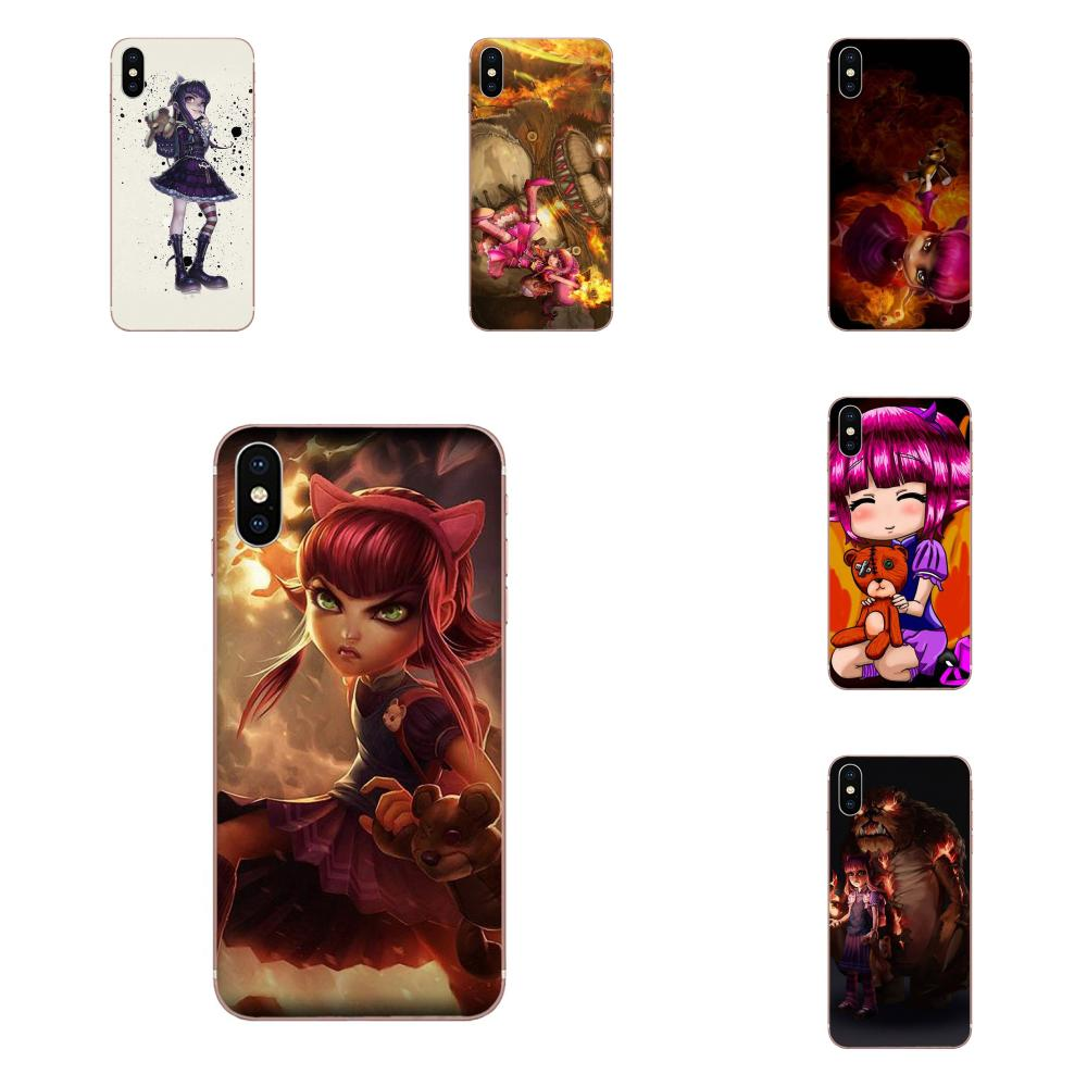 Skin Hybrid For Huawei Honor 10 10i 20 20i 8S lite Y9 Prime Y7 2019 Y5 2018 p40 lite pro Lol The Dark Child <font><b>Annie</b></font> image