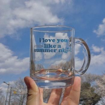 2021 nowa letnia noc kocham cię jak letnia noc szklany kubek śniadaniowy chmury księżyc gwiaździste niebo kubek kawy lampka do wina tanie i dobre opinie CN (pochodzenie) ROUND CE UE Szkło Szklanki na piwo Na stanie