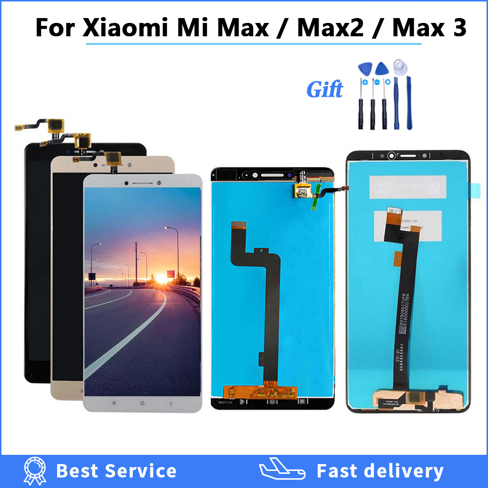 100% tested For Xiaomi Mi Max <font><b>3</b></font> <font><b>LCD</b></font> Display Touch Screen Digitizer Assembly For Xiaomi Mi Max <font><b>2</b></font> <font><b>LCD</b></font> Screen Max3 Replacement <font><b>lcd</b></font> image