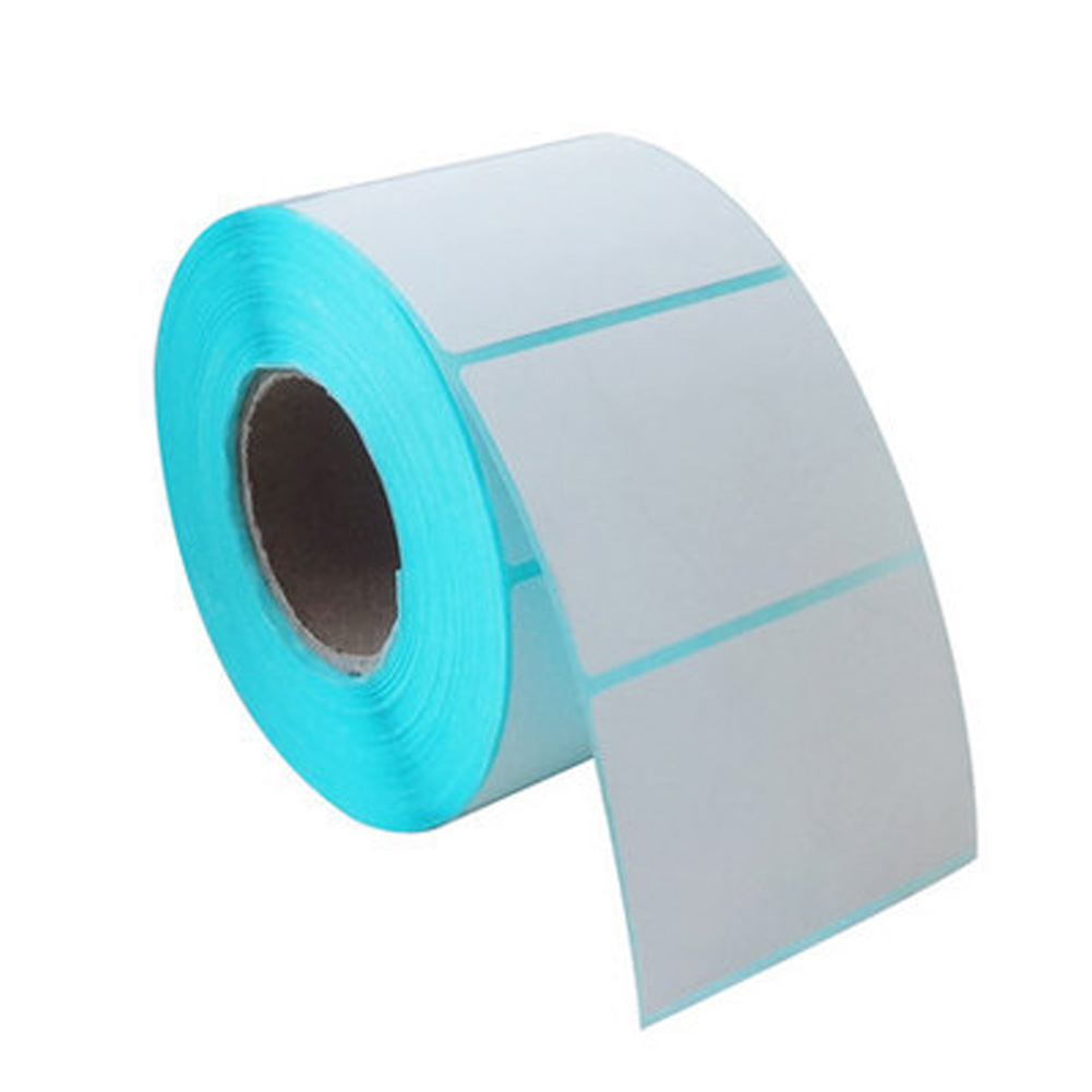 Adhesive Household Sticker White For Office Kitchen Jam Label Thermal Paper On Rolls 5*4cm 700pcs