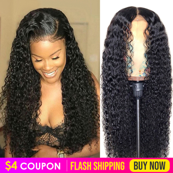 Curly Lace Front Human Hair Wigs Pre Plucked Wig Virgo 13x4 8-26 inch 150% Malaysian Remy Hair Deep Curly Lace Frontal Wigs