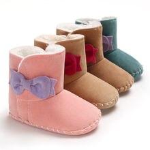 Очень теплые зимние ботинки для новорожденных девочек принцесс