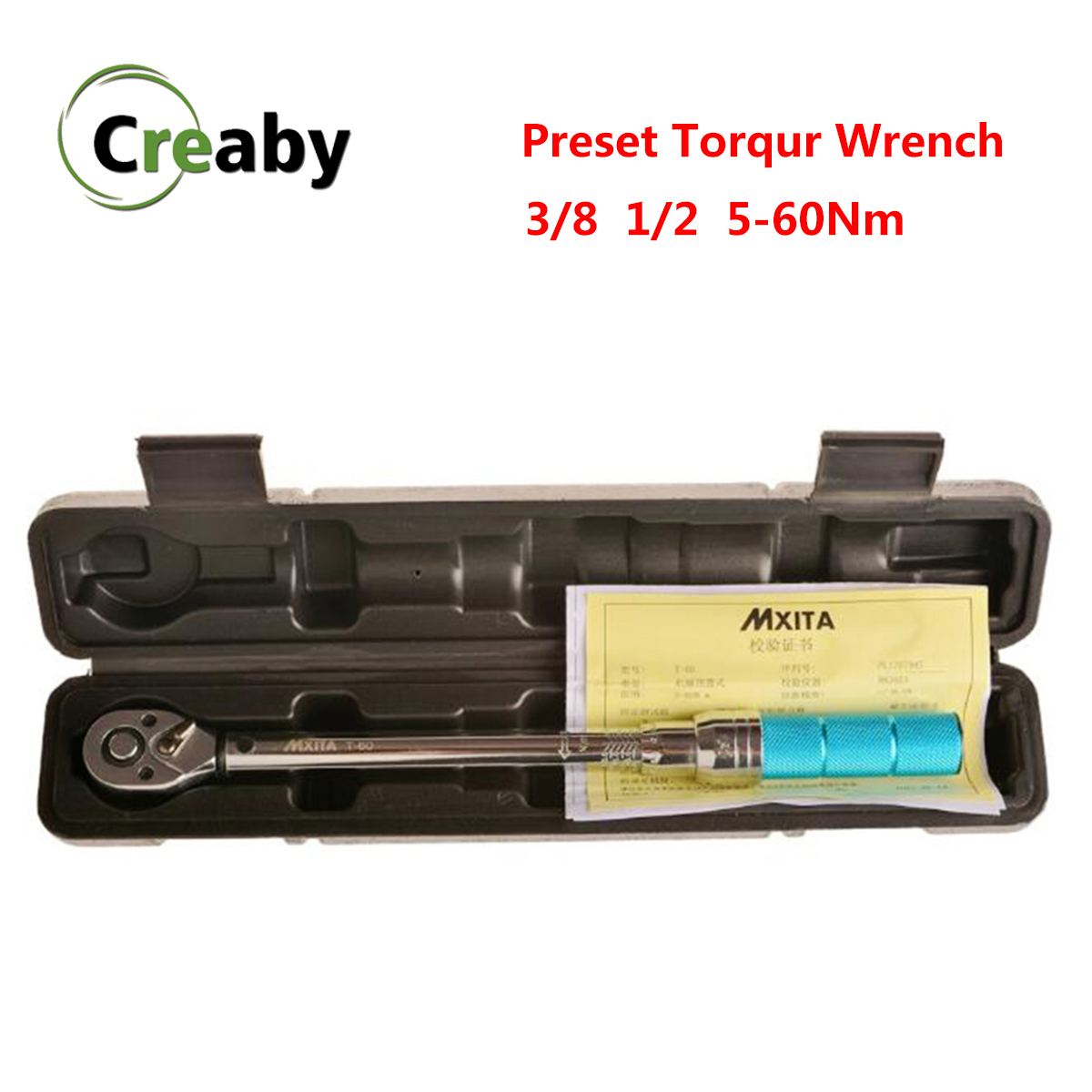 High Precision Adjustable Preset Torque Wrench 1 2 3 8 5-60Nm Ratchet Spanner Wrench Repair Hand Tool