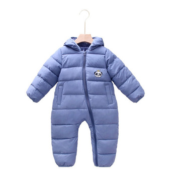 0-24 Months Newborn Baby Rompers 2020 Autumn Winter Down Cotton Hooded Clothing Infant Fashion Girl Romper Jumpsuit