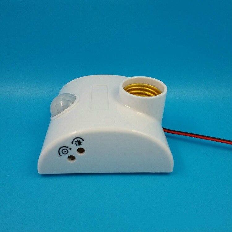 Pied de lampe E27 Standard AC 170-250V lampe ampoule Base infrarouge IR capteur automatique mur support de lumière prise PIR détecteur de mouvement