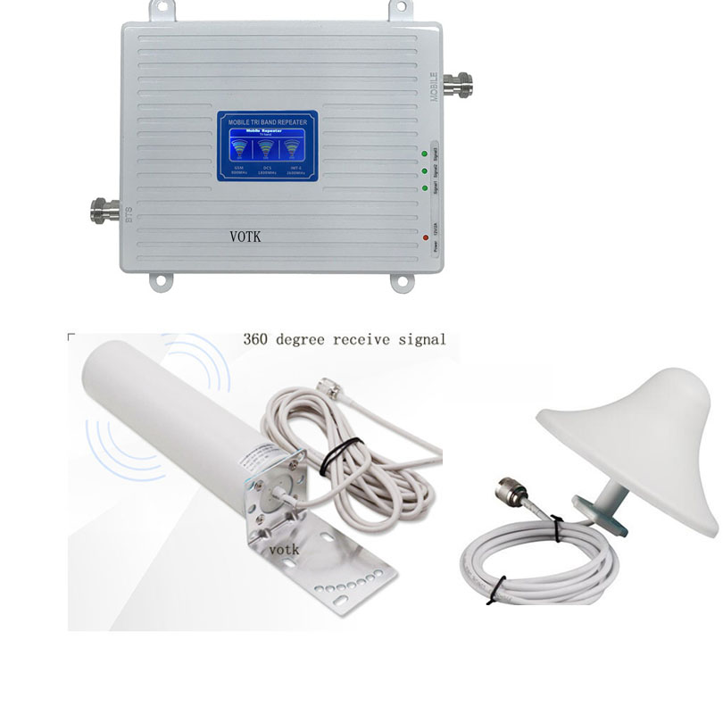 90018002600 Celluar Network Amplifier 4G LTE GSM DCS  Communication Signal Repeater 2G4G Network Booster With Omni Antenna Set