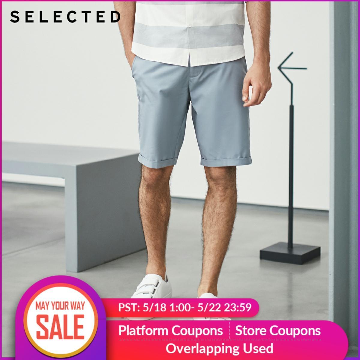 SELECTED Tencel Fabric Blend Straight-leg Leisure  Mens Shorts S 4182SH516
