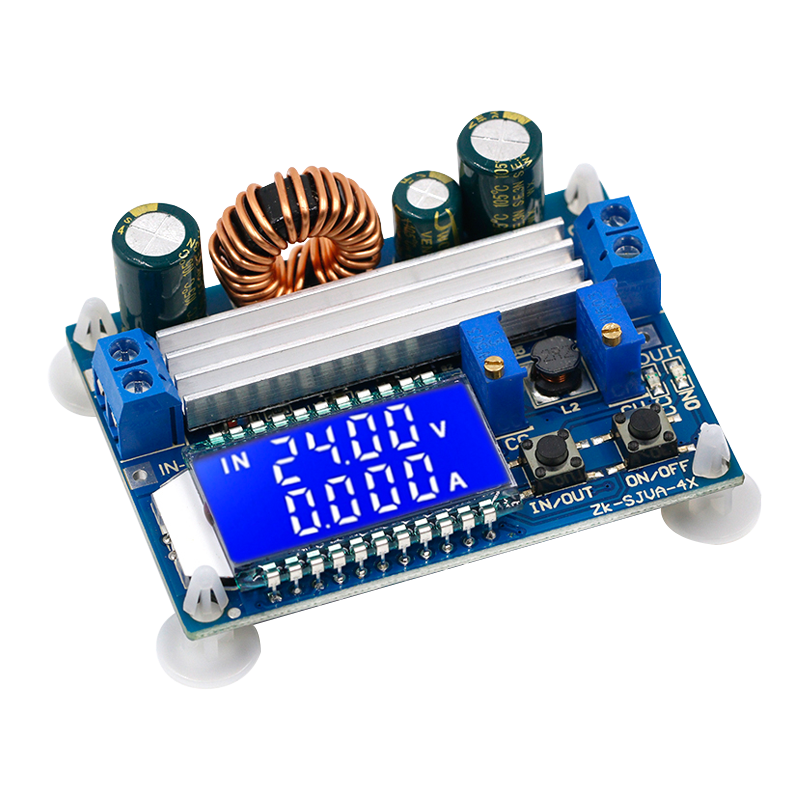 LCD DC 5.5-30V to 0.5-30V 35W Buck Boost Power Supply Step Up Down Module