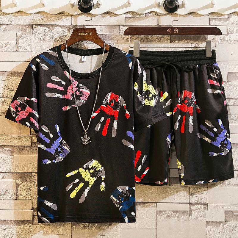 2 Pcs/Set Men's Tracksuit Gym Fitness Badminton Sports Suit Clothes Running Jogging Sport Wear Exercise Workout Set Sportswear
