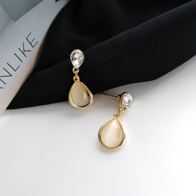 цены Fashion Opal Stud Earrings Minimalist style Geometric droplets crystal Retro Statement Earrings For Women Jewelry Accessories