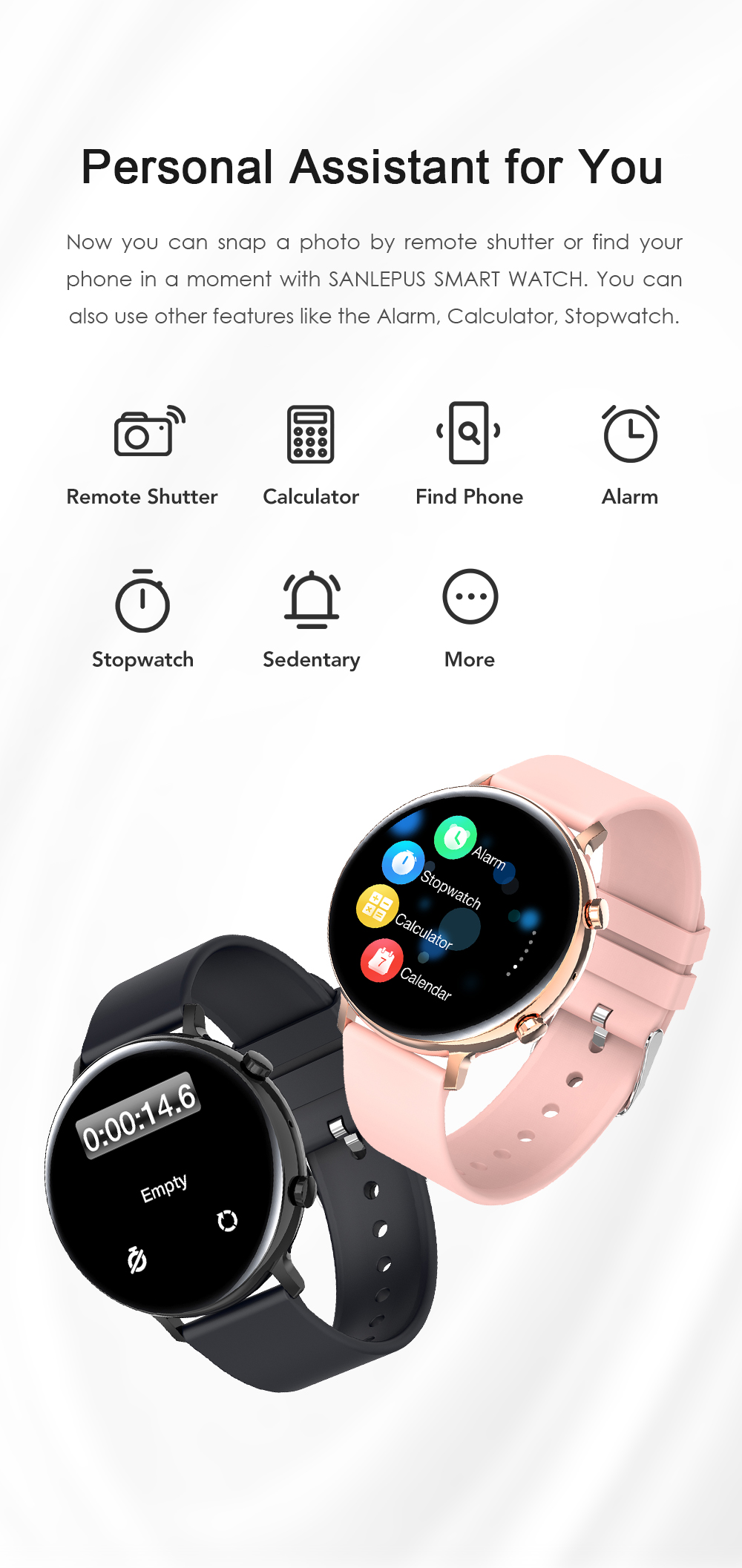 H24a7756370a4448ca4244c1b0d8e9fcdl SANLEPUS ECG PPG Smart Watch With Dial Calls 2021 New Men Women Smartwatch Blood Pressure Monitor For Android Samsung Apple