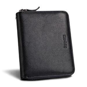 Image 4 - Newbring 30 카드 슬롯 오르간 정품 가죽 카드 소지자 대용량 주최자 지갑 nederlands 여권 커버 여행 지갑