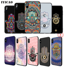 IYICAO Hamsa Hand of Fatima Soft Phone Case for iPhone 11 Pro XR X XS Max 6 6S 7 8 Plus 5 5S SE Silicone TPU
