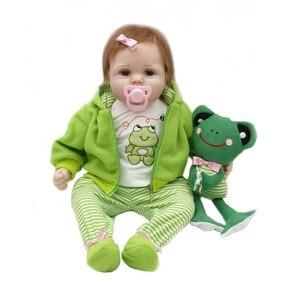 56 см 22 дюйма модный силиконовый bebe reborn baby fog подарок reborn baby dolls игрушка кукла