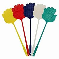 5pcs Palm Shaped Flyswatter Plastic Fly Swatters Mosquito Pest Control Insect Killer Home Kitchen Accessories Random Color
