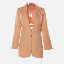 2019 Fashion Autumn Women Slim Blazers Jacket Female Work Office Lady Black Pockets Notched Blazer Coat