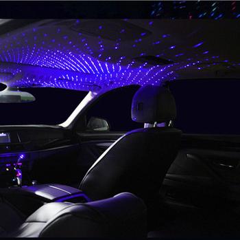 LED na dach samochodowy gwiazda lampka nocna projektor dla hyundai accent solaris tucson 2017 getz ix35 santa fe coupe i20 veloster ix25 creta tanie i dobre opinie Klimatyczna lampa Metal Violet 226x15mm 0 2 A 0 15 W USB connector