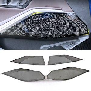 Для BMW 3 серии G20 2020, автомобильная нержавеющая дверь, громкий динамик, звуковая панель, крышка динамика, накладка, рамка, наклейка, аксессуары...