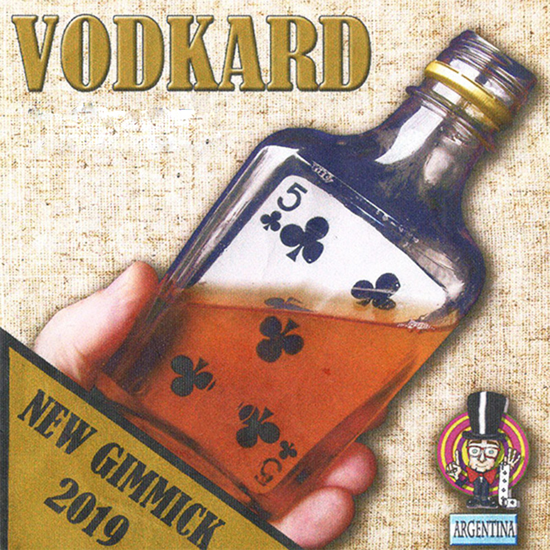 Vodkard Magic Tricks Card Appear In Bottle Magia Magician Close Up Illusions Gimmick Prop Mentalism Comedy Amazing 2019 New