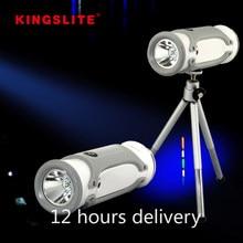 Usb recarregável multi-função led luz de pesca extensível tripé longo alcance de luz azul branco luz 18650 cree lanterna