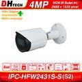 Dahua Original IPC HFW2431S S 4MP HD POE fente pour carte SD H.265 IP67 IK10 30M IR Starlight IVS WDR