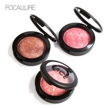 FOCALLURE 6 Colors Face Blush Natural Long Lasting Waterproof Professional Brighten Base Blusher Palette Beauty Makeup недорого