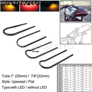 23 Size Rear Seat Frame Hoop Loop Tracker End Upswept Flat Brat Frame Loop W/LED Taillight Turn Signal for Cafe Racer Scrambler