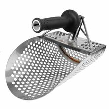 1Pcs Hexagonal Stainless steel Beach Sand Scoop Shovel Metal Detector Detecting Gold and Silver Search Tool