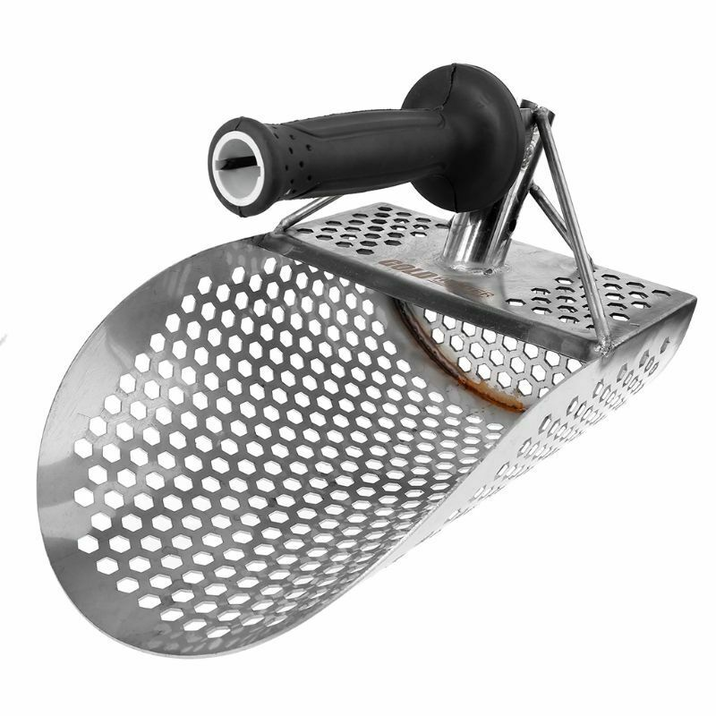 Hexagonal Stainless Steel Beach Sand Scoop Shovel Metal Detector Detecting Gold And Silver Search Tool