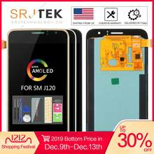 AMOLED/TFT untuk Samsung Galaxy J1 2016 Tampilan J120 LCD Touch Digitizer Sensor Kaca J120F LCD Display J120H J120 layar J120M(China)