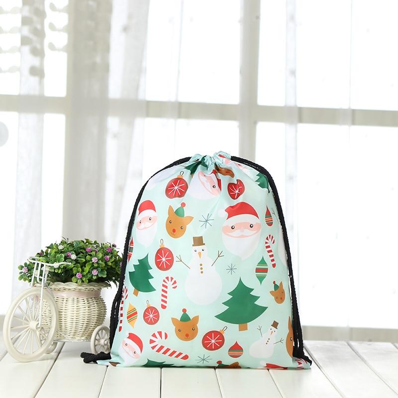 Drawstring Backpack Fashion Women 3D  Printing Travel Softback Men Mochila Santa Claus Drawstring Bags Unisex Women's Shoulder