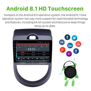 Image 2 - Seicane Android 9.1 9 inch Double Din Car Radio GPS Multimedia Unit Player For 2010 2011 2012 2013 Kia Soul support DVR SWC