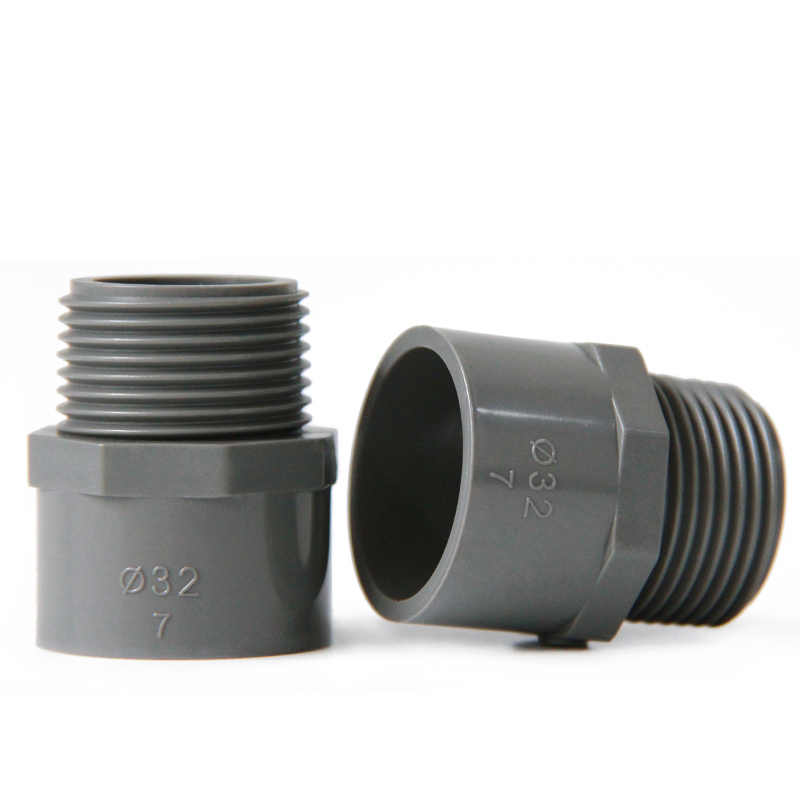 """20mm 25mm 32mm 40mm 50mm ID x 1/2 """"3/4"""" 1 """"1- 1/4 """"1-1/2"""" BSP Buitendraad Grijs PVC Buis Gezamenlijke Pijp Montage Water Connector"""