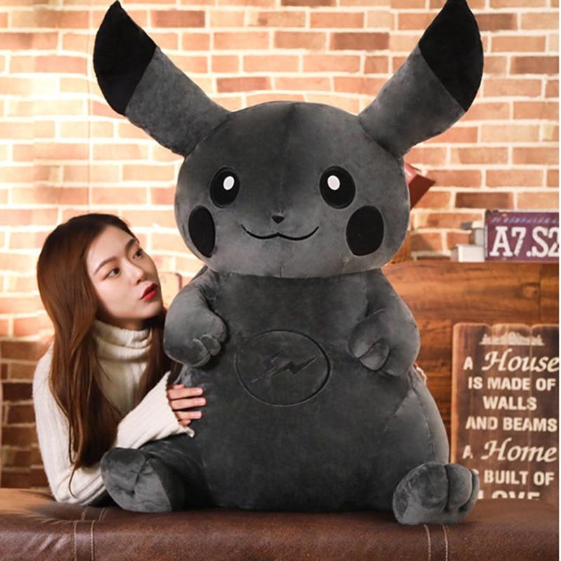 Dark Pikachu Plush Toy Soft Lightning Pikachu Doll Anime Toys Kid Plush Toys Children Birthday Gifts